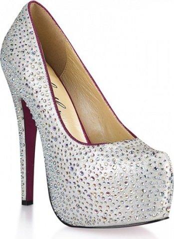 Туфли с серебристыми кристаллами jewerly 8
