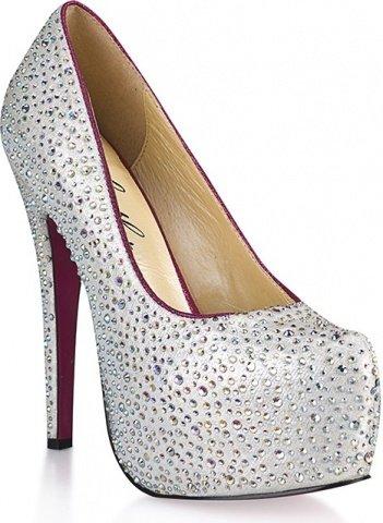 Туфли с серебристыми кристаллами jewerly 9