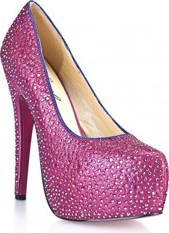 Туфли в кристаллах на шпильке sexy pink 6