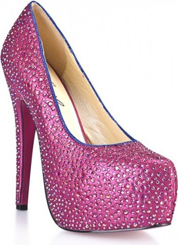 Туфли в кристаллах на шпильке sexy pink 10