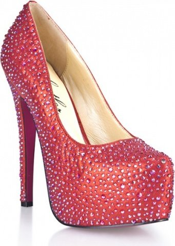 Красные туфли в кристаллах provacative 10