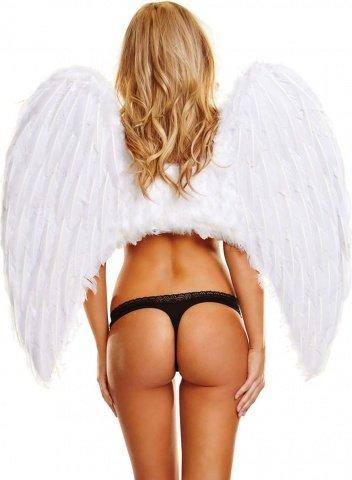 Большие белые крылья из натуральных перьев white wonderful, фото 2