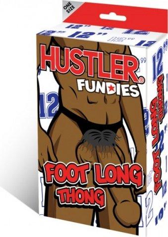 Мужские g-стринги длинный плюшевый темнокожий пенис hustler fundies 29 см, фото 3