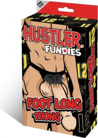 Мужские g-стринги длинный плюшевый пенис hustler fundies 29 см, фото 3