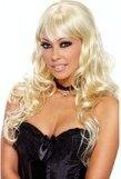 Кудрявый парик блонд - Секс шоп Мир Оргазма