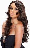 Каштановый парик с вьющимися локонами