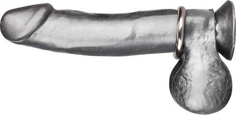 Стальное эрекционное кольцо 4,8 см steel cock ring
