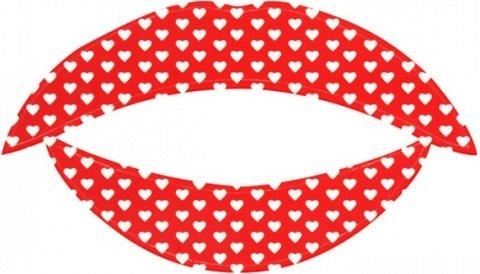 Lip tattoo белое сердце, фото 2
