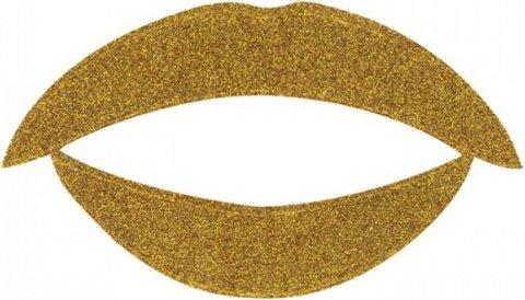 Lip tattoo золотой блеск, фото 2