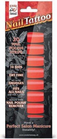 Набор лаковых полосок для ногтей красный шик nail foil, фото 3