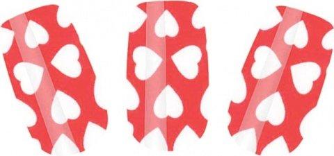 Набор лаковых полосок для ногтей белые сердца nail foil, фото 2
