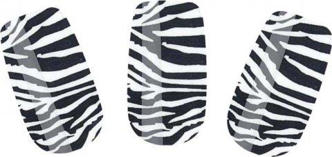 Набор лаковых полосок для ногтей зебра nail foil, фото 2