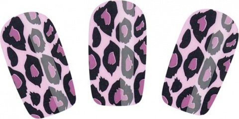 Набор лаковых полосок для ногтей фиолетовый леопард nail foil, фото 2