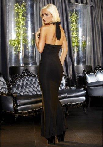 Вечернее черное платье вв полв от Hustler, фото 3