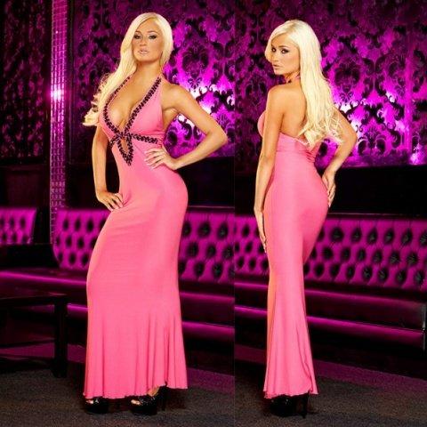 Вечернее розовое платье вв полв от Hustler
