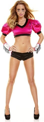 Костюм эротичной футболистки розовый tight end, фото 2