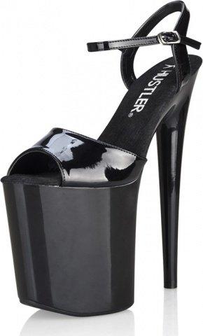 Черные босоножки на высокой платформе black shine 8 38