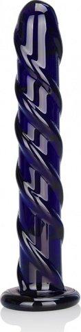 Стимулятор из стекла цвета индиго swirl indigo, фото 2