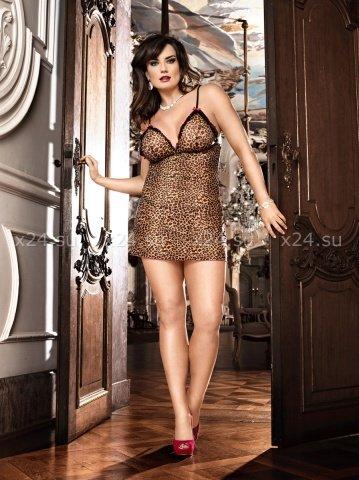 Мини-платье леопардовое