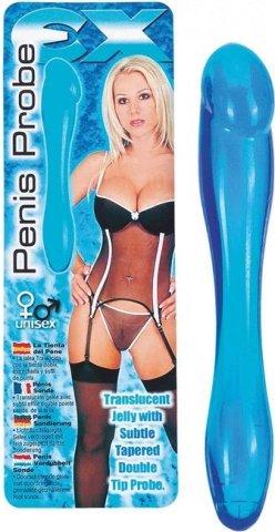 Фаллос гибкий синий Penis Probe 19 см, фото 7