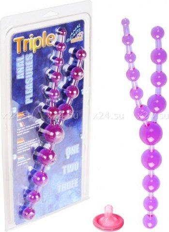 Фиол шарики анал тройные