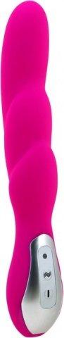 Вибратор розовый, силикон, перезаряжаемый, 7 режимов вибрации, фото 3