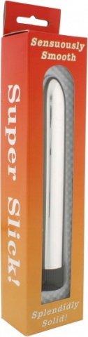 Вибромассажёр серебро гладкий, фото 3