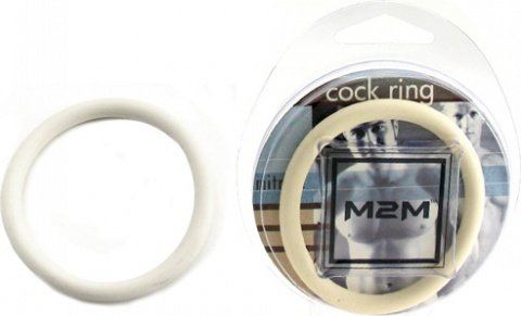 Нитриловое эрекционное белое кольцо d=50 мм M2M (большое фото) > Секс шоп Мир Оргазма