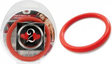 Нитриловое эрекционное красное кольцо d=50 мм H2H (большое фото) > Секс-шоп Мир Оргазма