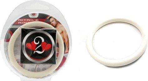 Нитриловое эрекционное белое кольцо d=50 мм H2H (большое фото) > Секс-шоп Мир Оргазма