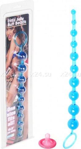 Шарики анальные синие Butt Beads, фото 2