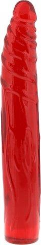 Фаллоимитатор гель красный 17,8 см, фото 3
