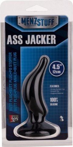 Фаллоимитатор анальный menztuff ass - jacker black 12 см, фото 2