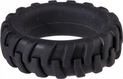 Насадка для пениса в виде шины черная menzstuff penis tire 4,2 см