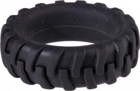 Насадка для пениса в виде шины черная menzstuff penis tire 3,2 см