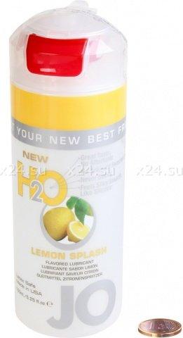 Съедобный любрикант со вкусом лимона JO H2O Lubricant Lemon Splash 150 мл