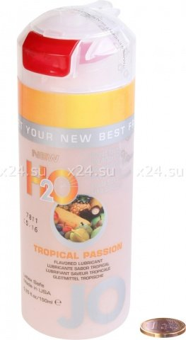 Съедобный любрикант со тропическим вкусом JO H2O Lubricant Tropical Passion 150 мл