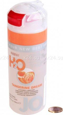 Съедобный любрикант со вкусом мандарина JO H2O Lubricant Tangerine Dream 150 мл, фото 2