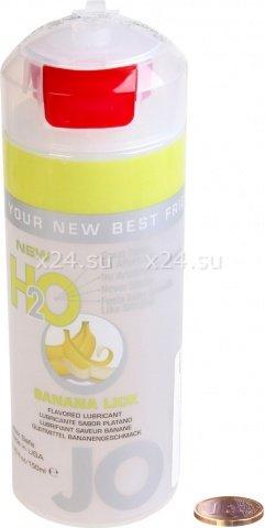 Съедобный любрикант со вкусом банана JO H2O Lubricant Banana Lick 150 мл