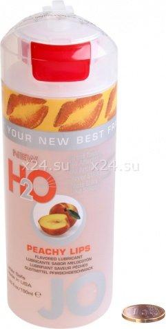 Съедобный любрикант со вкусом персика JO H2O Lubricant Peachy Lips 150 мл