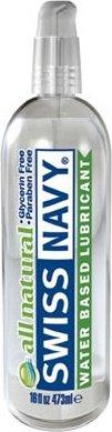 Oz/ 474 мл лубрикант `all natural` swiss navy гипоаллергенный