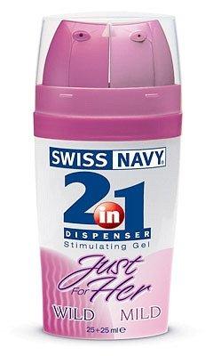 Swiss navy 2 в1 `just for her` для нее c двумя дозаторами 2 х25 мл, фото 2