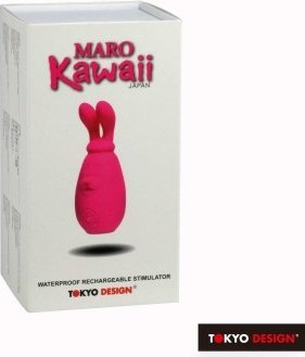 Вибратор с движущимися ушками maro kawaii 2, фото 3