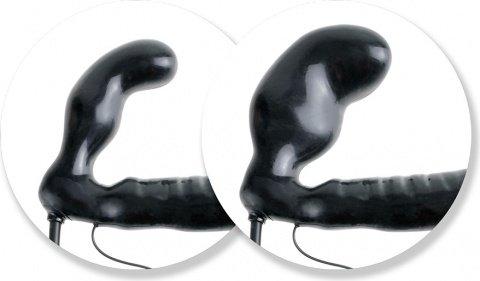 Безремневой страпон с увеличением объема и вибрацией Inflatable Vibrating Strapless Strap-On 16 см, фото 5