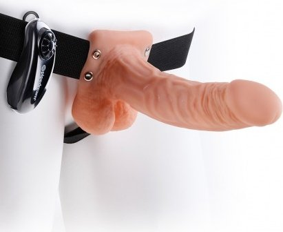 ����������� � ��������� 7'' Vibrating Hollow Strap-On with Balls 18 ��