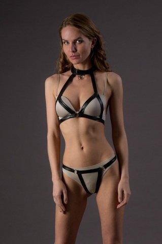 Комплект в стиле бдсм - leg avenue, цвет черный, размер s/m