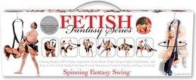 Секс-качели подвешивающиеся на дверь Fetish Fantasy Series Spinning Fantasy Swing - Black черные