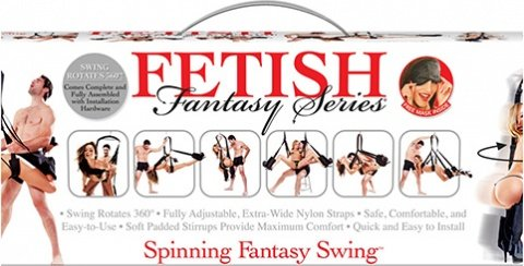Секс-качели подвешивающиеся на дверь Fetish Fantasy Series Spinning Fantasy Swing - Black черные, фото 5