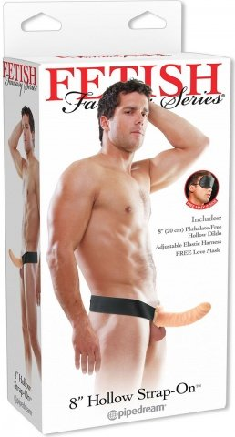 страпонhollow strap on flesh 22 см, фото 2