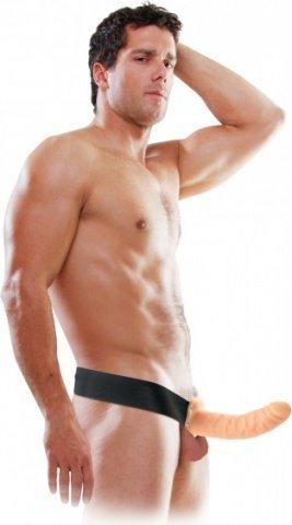 страпонhollow strap on flesh 22 см, фото 3
